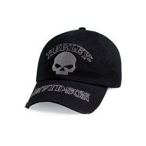 cc606c4002a Harley-Davidson® Men s Washed Skull Baseball Cap Hat. Embroidery.  Adjustable. 99480-10VM (Apparel) www.amazon.com .