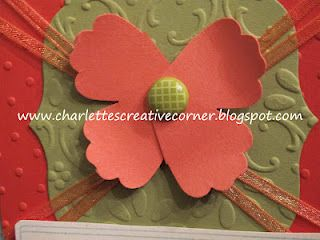 Gotta love simple punch art... A butterfly made with the Stampin' Up! Blossom punch.
