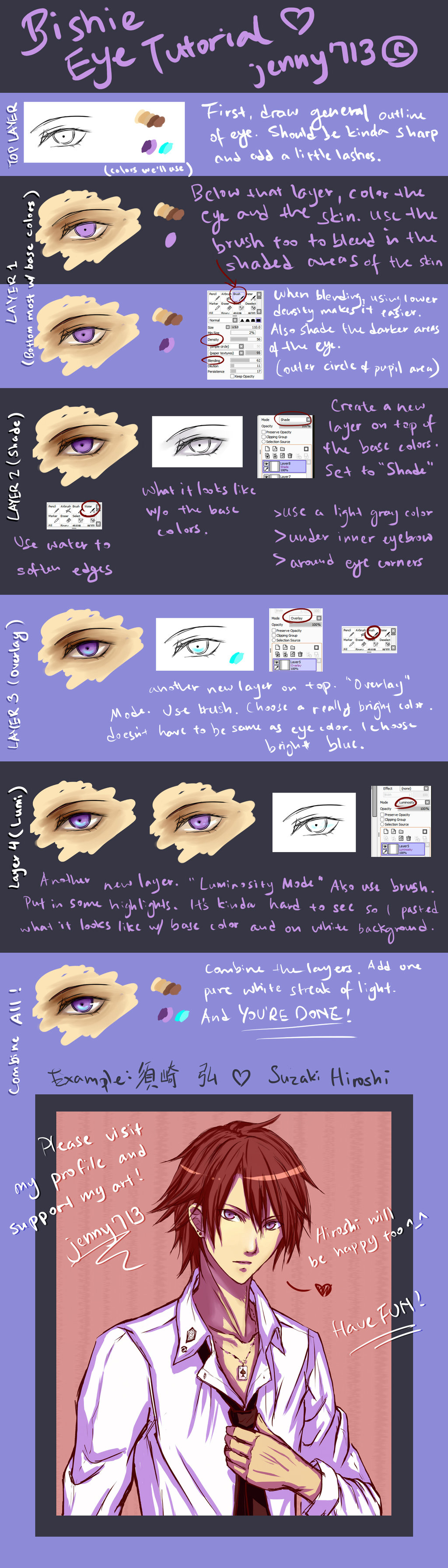 TUTORIAL (Paint Tool SAI) Bishie Anime Male Eye by
