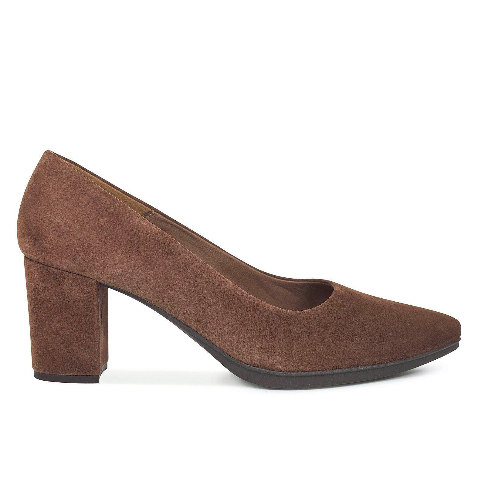 lo último ee81b 7d66a Zapatos mujer tacón bajo MARRÓN OSCURO Urban S - Zapatos ...