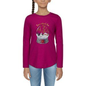 They'll love wearing a winter wonderland with their Bass Pro Shops\u00ae Snow Much Fun Snow Globe Long-Sleeve T-Shirt for Toddlers or Kids. This fun Bass Pro shirt for kids sports a screen-printed front graphic of a snow globe containing a wolf looking at falling snow in front of a snow-covered house. Snow Much Fun appears above the globe in fun cursive print. A ribbed collar gives the Snow Much Fun Snow Globe Long-Sleeve T-Shirt for Toddlers or Kids a comfier fit with added durability. 100% cot