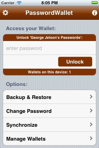 PasswordWallet Password Manager iPhone and iPad app by
