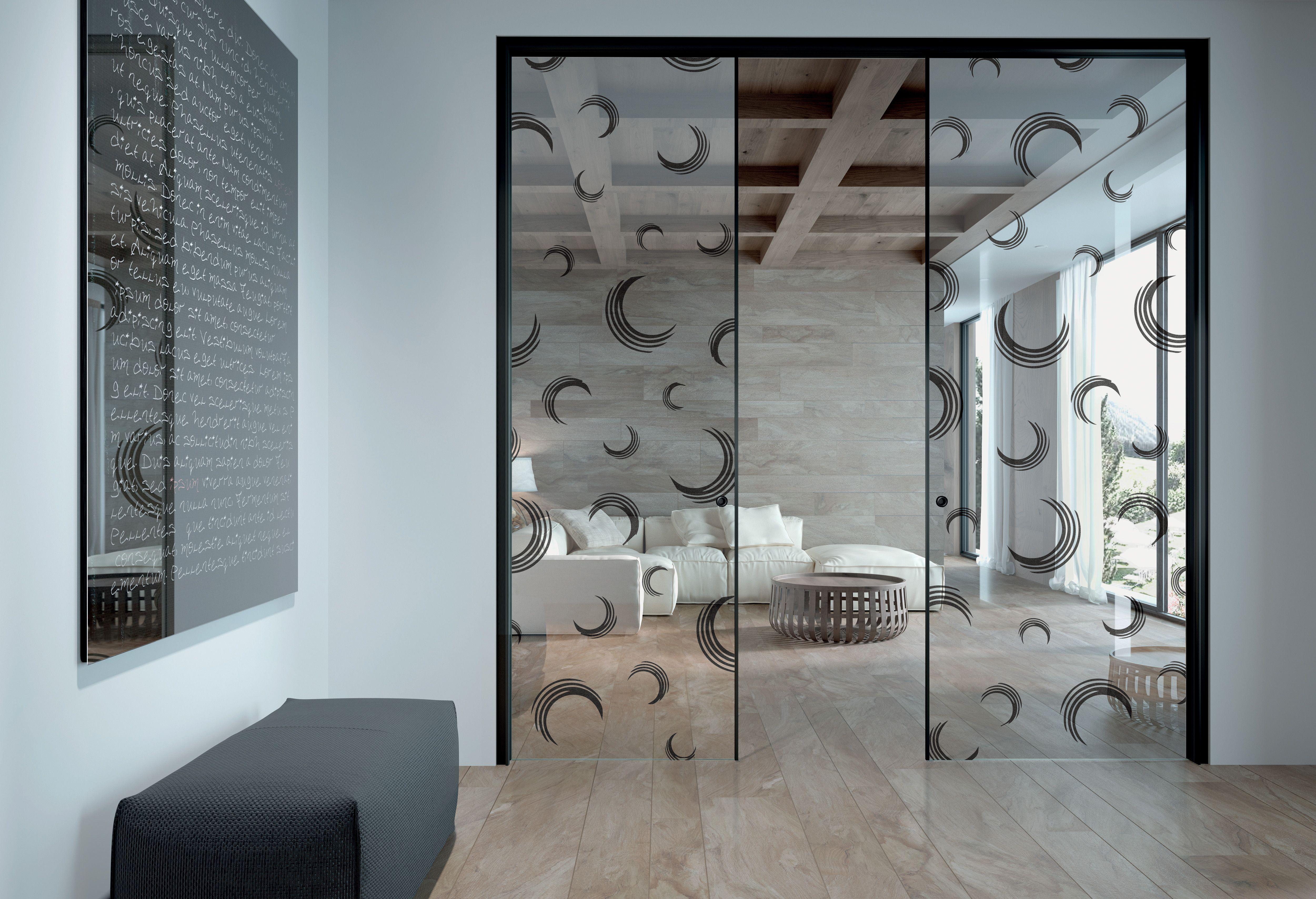 Doppia porta scorrevole a scomparsa su stipite isy vetro for Doppia porta scorrevole