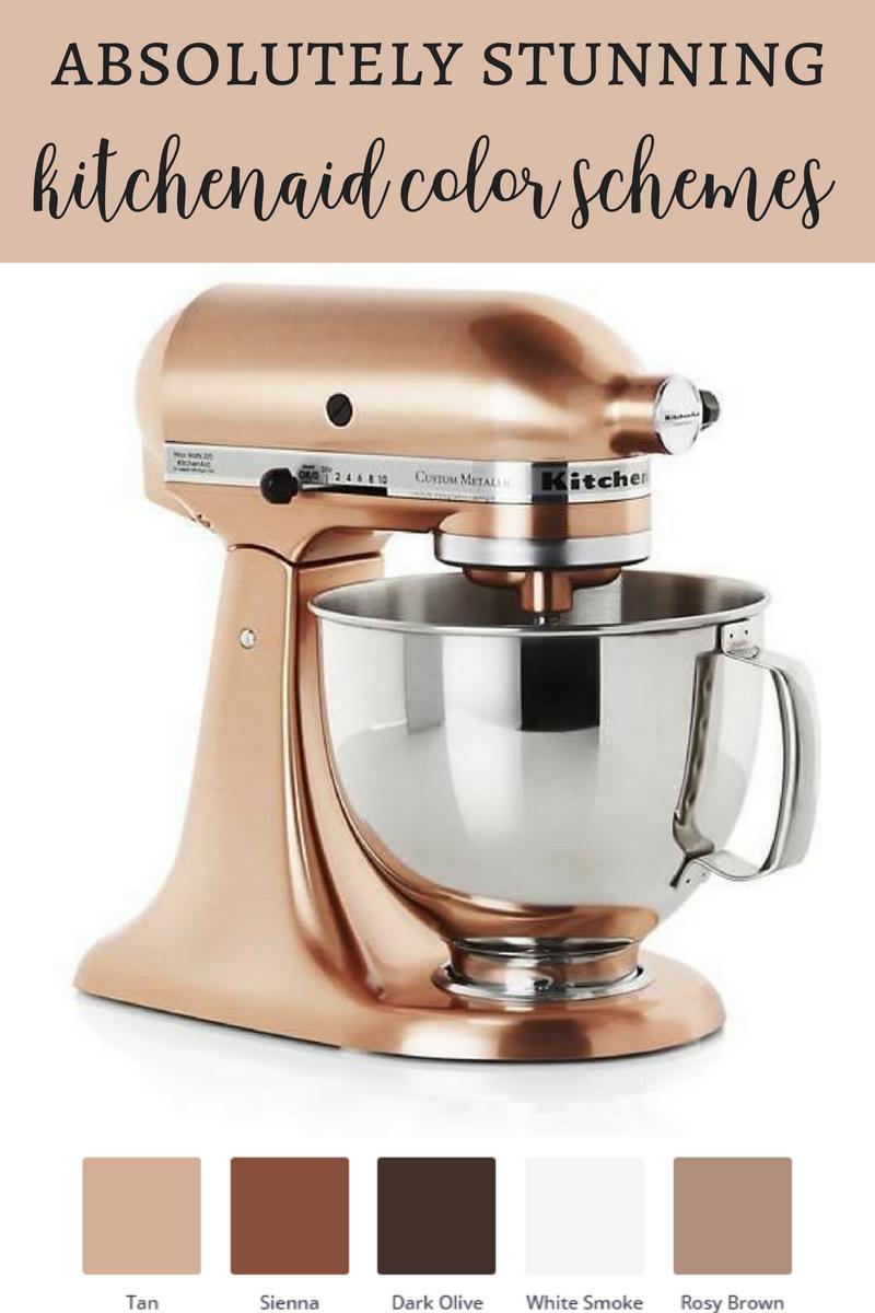 Top Kitchenaid Stand Mixer Color Combinations Copper Kitchen Aid