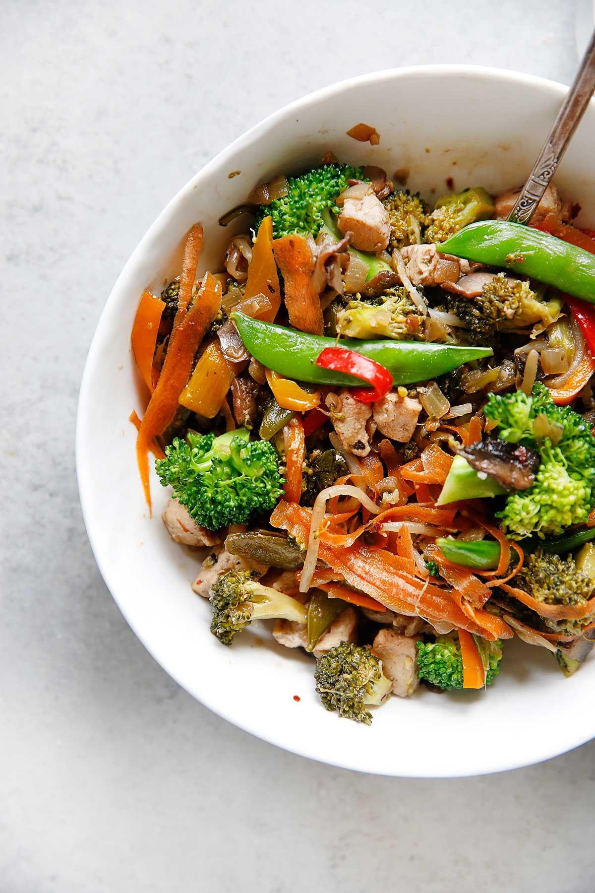 Stir-Fry with Garlic-Scallion Cauli-Rice