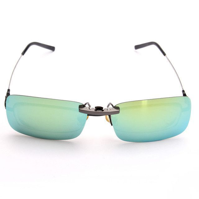 OUTERDO Polarized Clip On Sunglasses Driving Night Vision Lens For ...