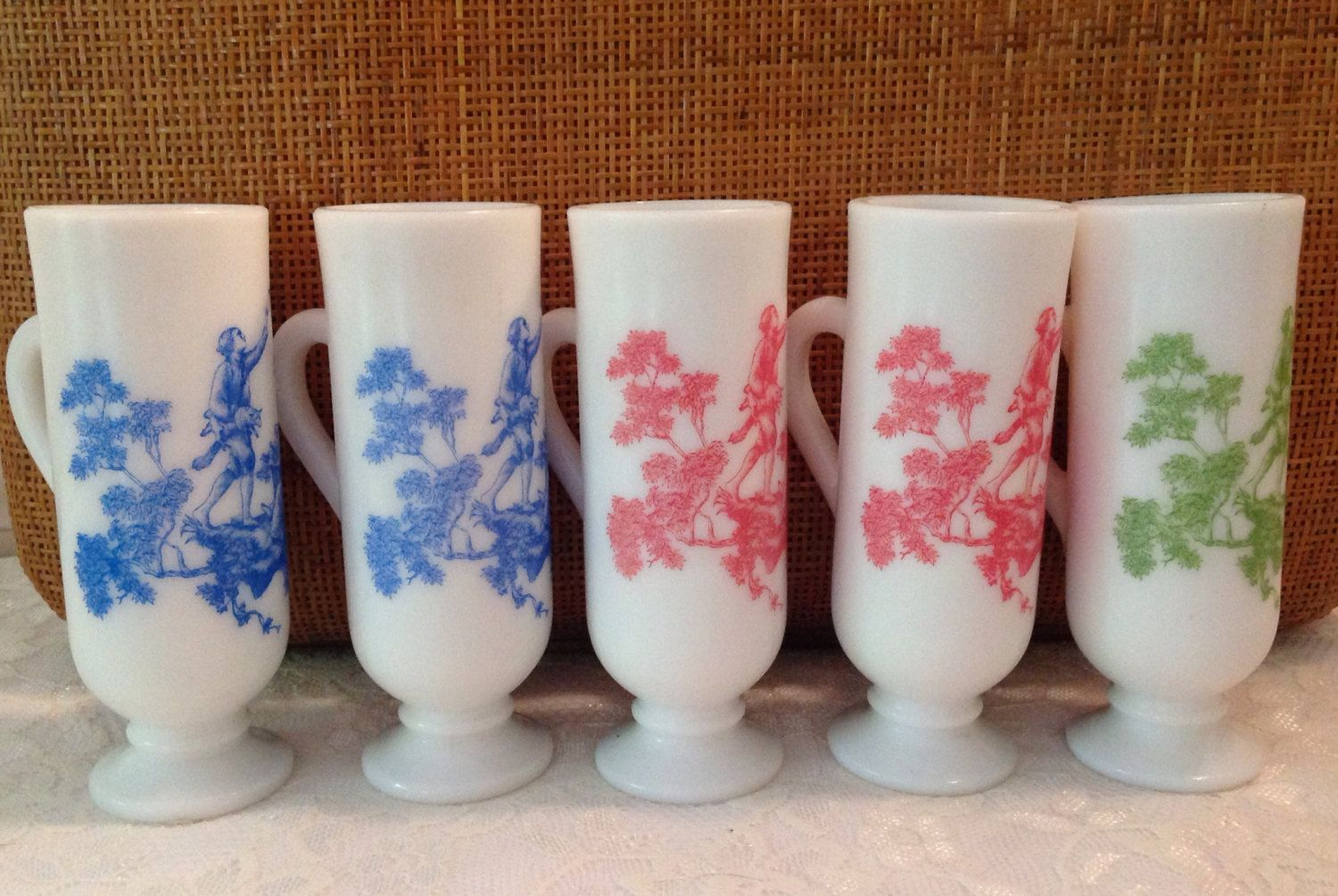 A personal favorite from my Etsy shop https://www.etsy.com/listing/460949106/vintage-avon-milkglass-demitasse-cups