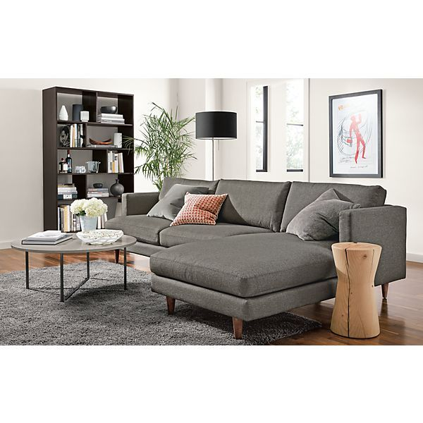 Campbell Sofa With Chaise And Dahl Bookcase Modern