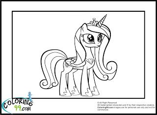 Princess Cadence Coloring Pages Cool Stuff Pinterest