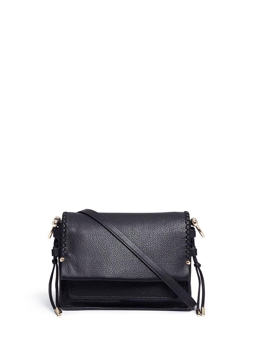 7a4a4115c STUART WEITZMAN Petite Lola' Whipstitch Edge Leather Shoulder Bag.  #stuartweitzman #bags #shoulder bags #lining #suede #lace #