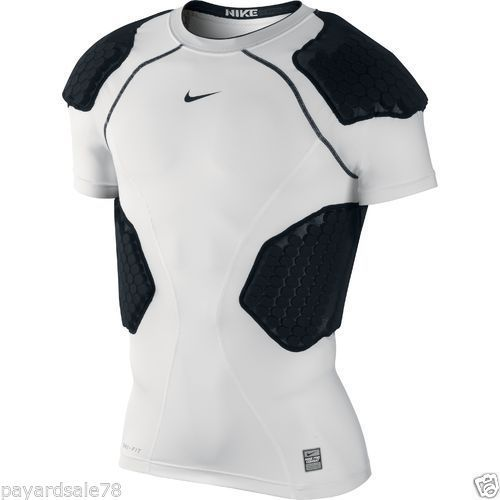 86f14fc253f MEN'S SIZE 2XL XXL NIKE PRO COMBAT COMPRESSION FOOTBALL SHIRT WITH PADS  PADDED