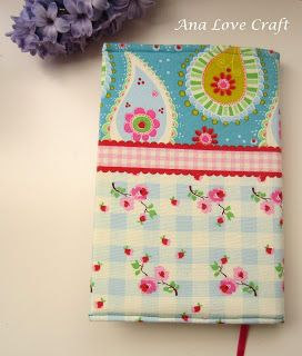 Ana Love Craft: - FABRIC BOOK COVER   TUTORIAL