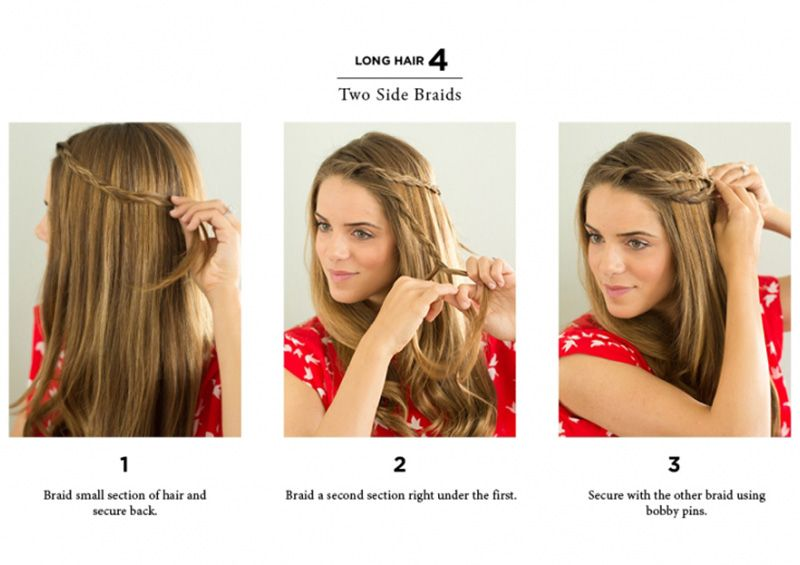 10 Easy Ways To Style Hair The Everygirl Easy Hairstyles Long Hair Styles Short Hair Styles Easy