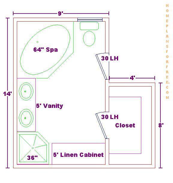 Bath Floor Plan With A 9x14 Size Bathroom Floor Plans Master