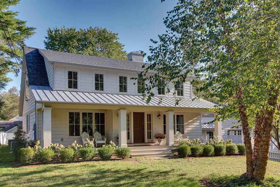 Shed Dormers And Front Porch Dormer House Cape Style Homes