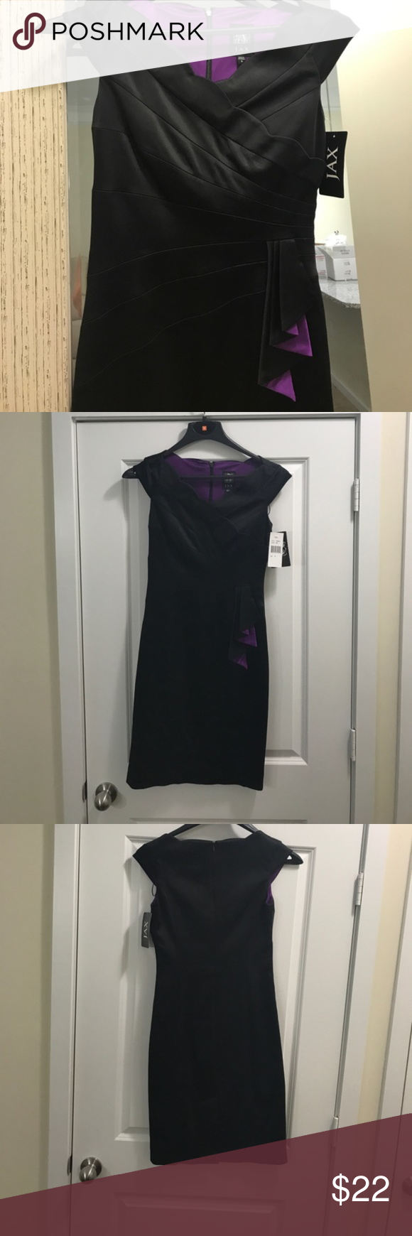 Nwt jax black cocktail dress sz 4 black cocktail dress purple nwt jax black cocktail dress sz 4 ombrellifo Gallery