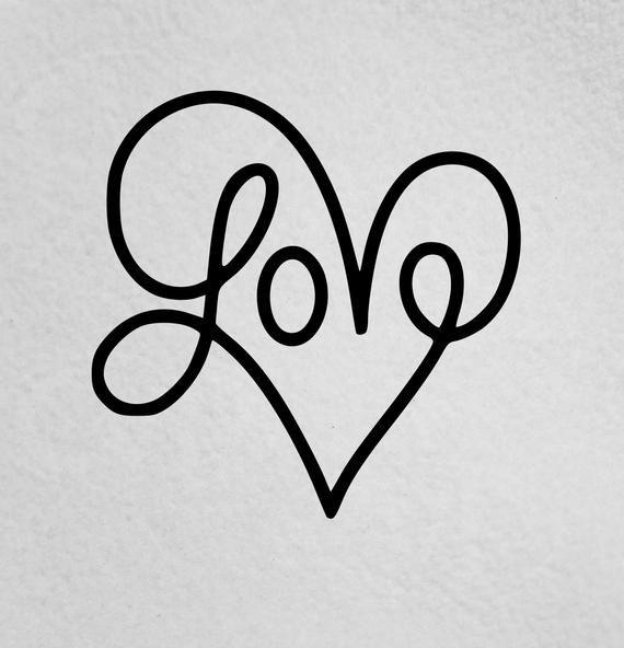Love Heart-Love Decal-Love Sticker-Motivational