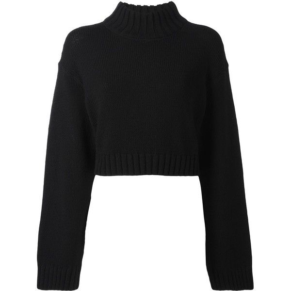 DKNY cropped jumper (20.195 RUB) ❤ liked on Polyvore featuring ...