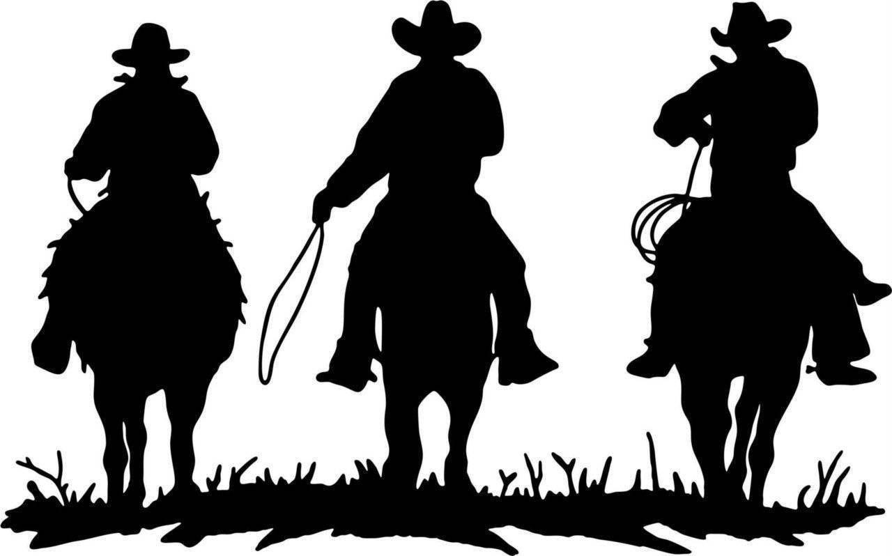 Cowboy Silhouette Western Decal