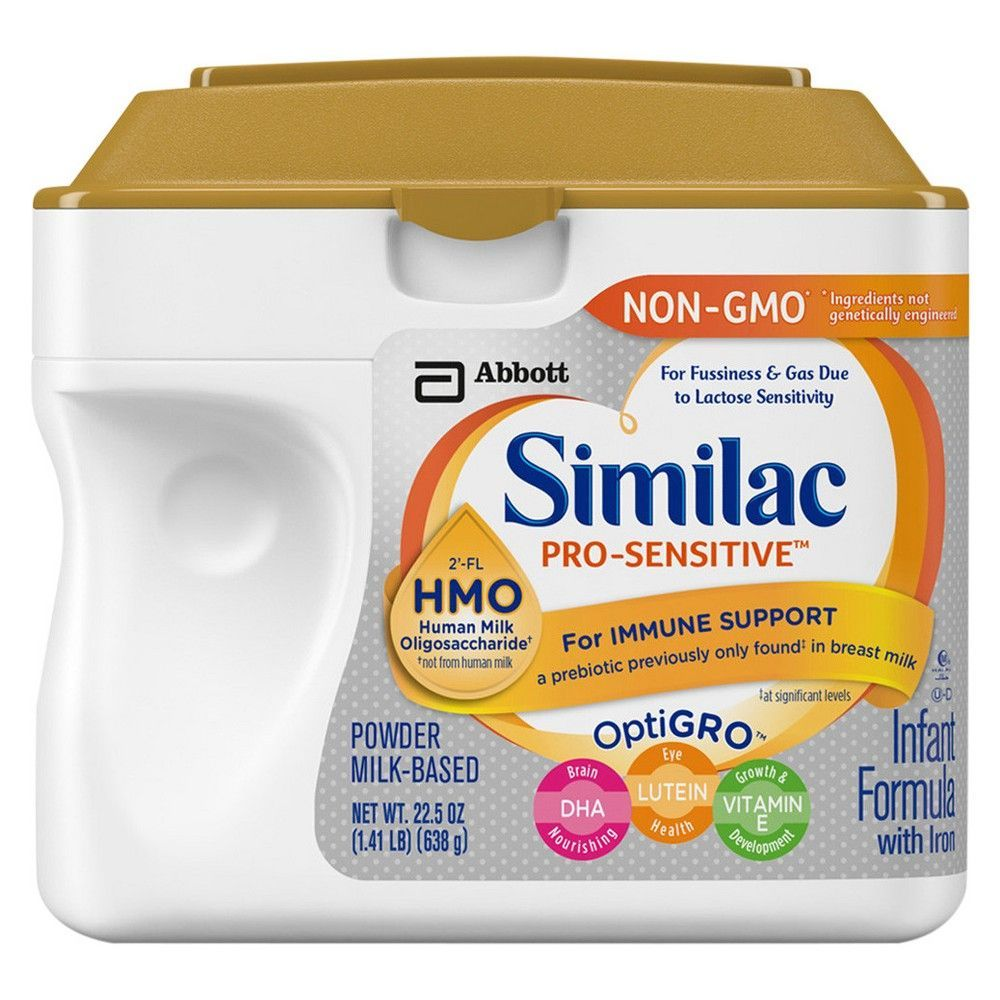 Similac Pro Sensitive Non Gmo Infant Formula With Iron Powder 22 5oz Baby Formula Baby Formula Milk Best Baby Formula