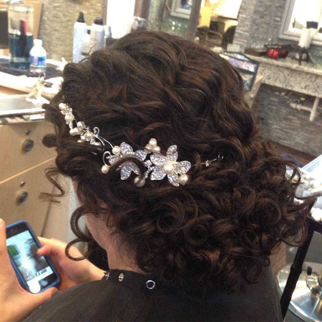 natalya anderson -bridal updo for naturally curly hair. low
