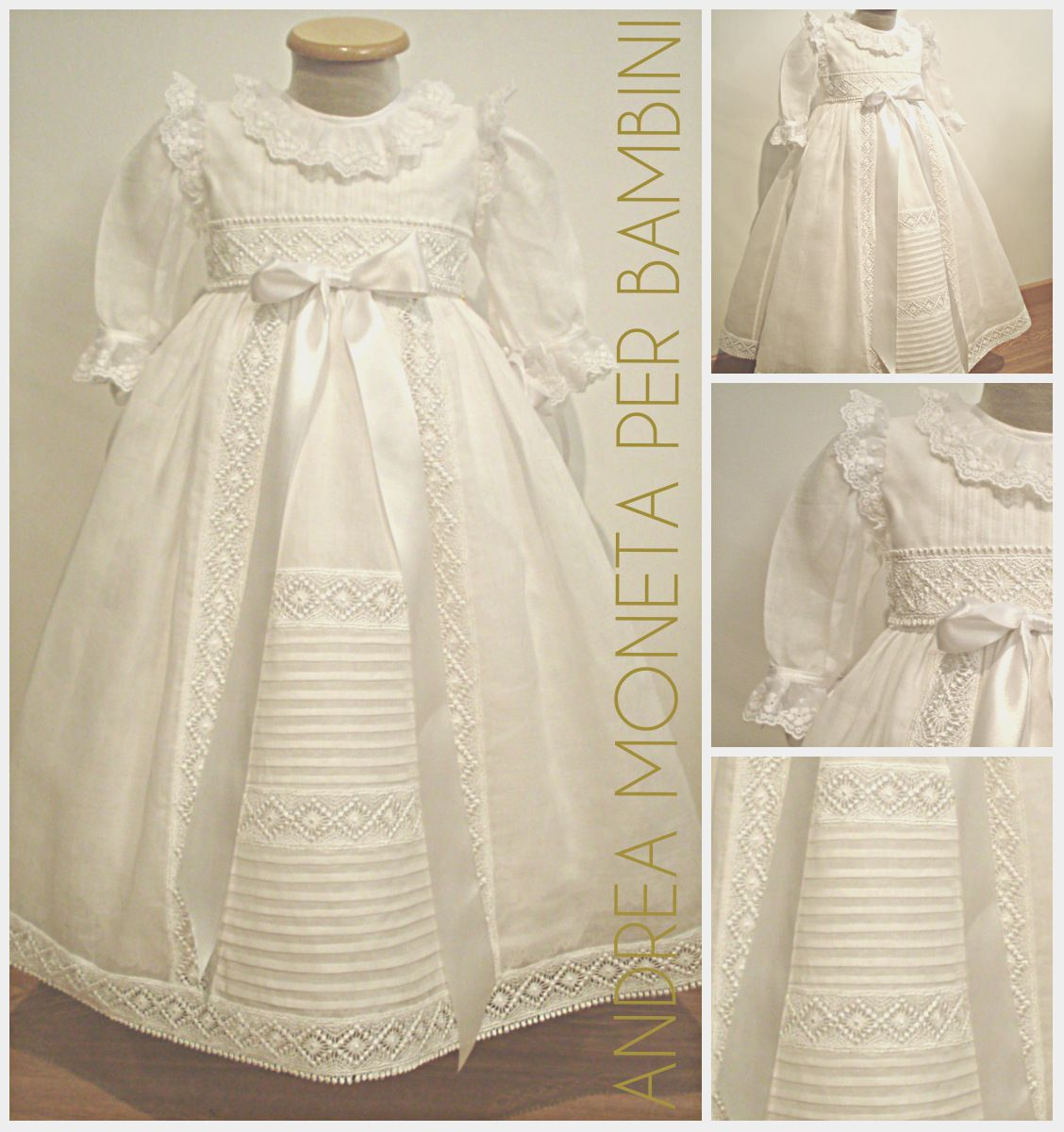 Faldon Mantillon Tradicional de Bautismo 068. Christening Dress ...