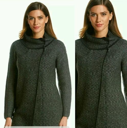NWT NINE WEST JEANS SWEATER COAT ANTHRACITE SIZE LARGE MSRP $119.50