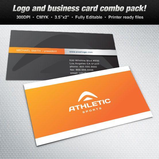 A logo business card set design suitable for sports themes logo a logo business card set design suitable for sports themes logo design reheart Choice Image