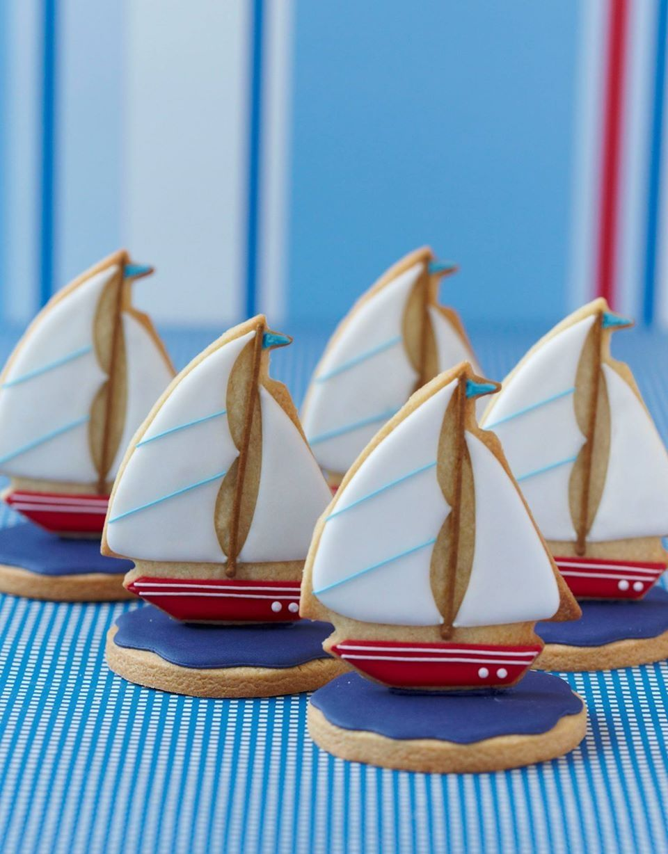 Boat biscuits (With images) | Sailboat cookies, Sugar cookies ...