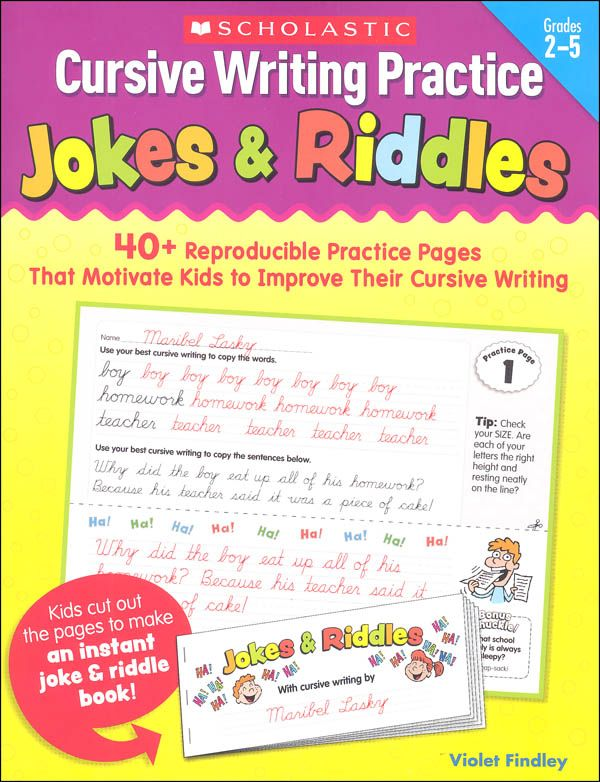 Cursive Writing Practice Jokes Riddles 063564 Details Cursive Writing Teaching Cursive Writing Writing Practice