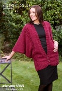Gorgeous Deep V Cardigan:#knit #knitting #free #pattern #freepattern #freeknittingpattern #knittingpattern