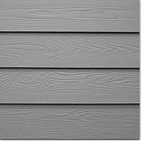BuildDirect: Fiber Cement Siding Cedar Texture Pelican 2 Coat Acrylic 8 1/4 12'