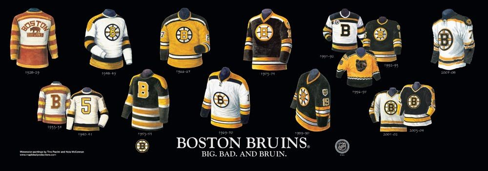 competitive price c21a3 dd6c0 Boston Bruins uniform history | NHL Jersey Timelines ...