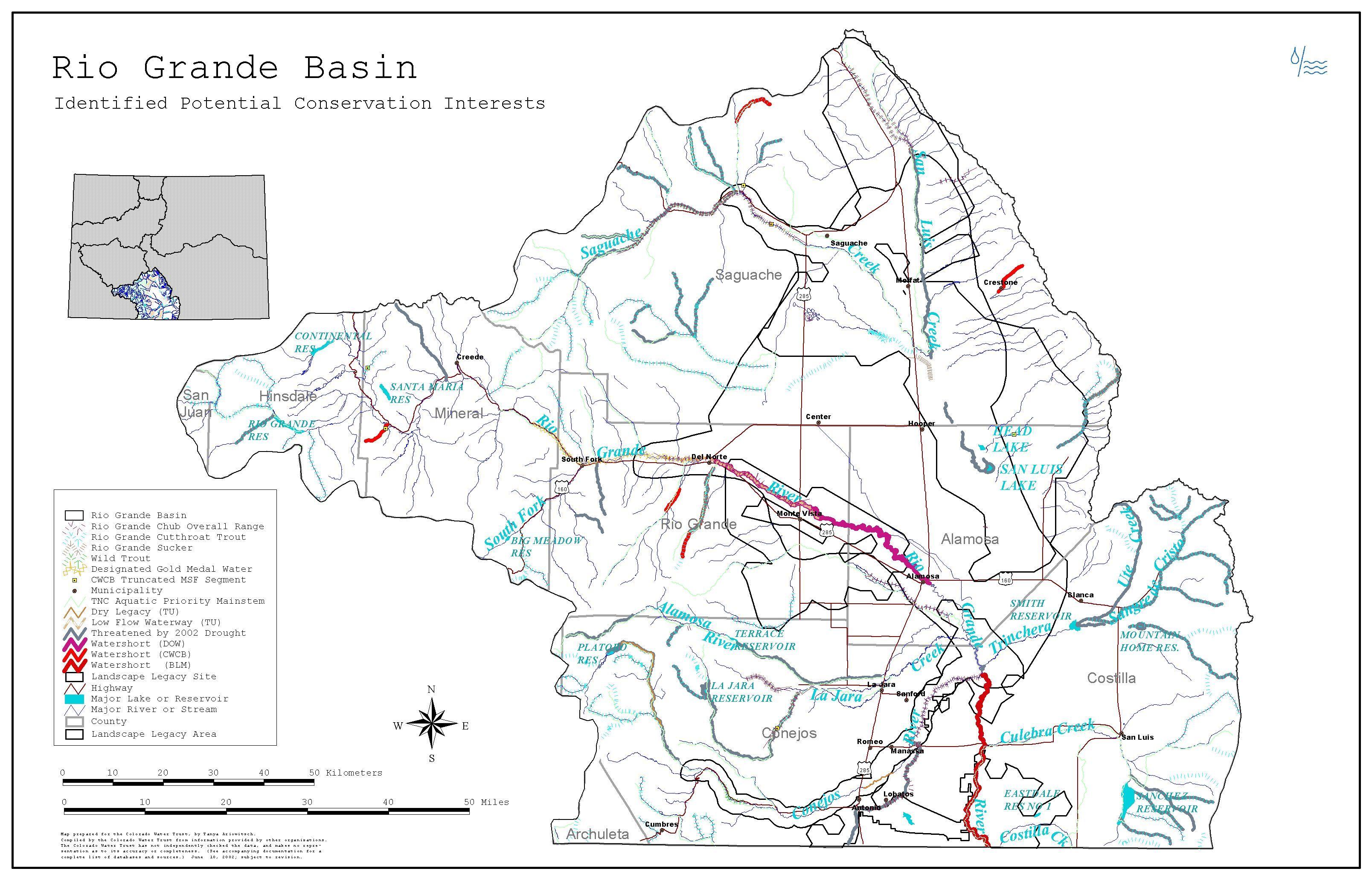 Rio Grande River Basin Map Colorado Local Water Pinterest - World map rio grande river