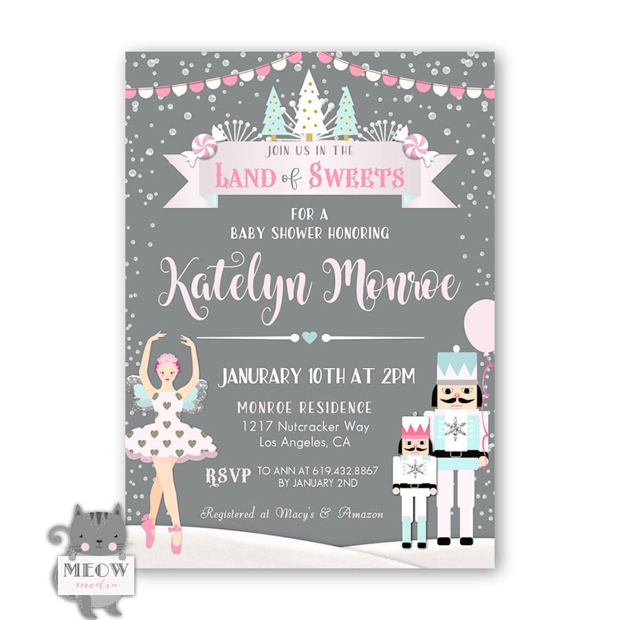Land of Sweets Baby Shower Invitation, Winter Baby Shower Invitation ...