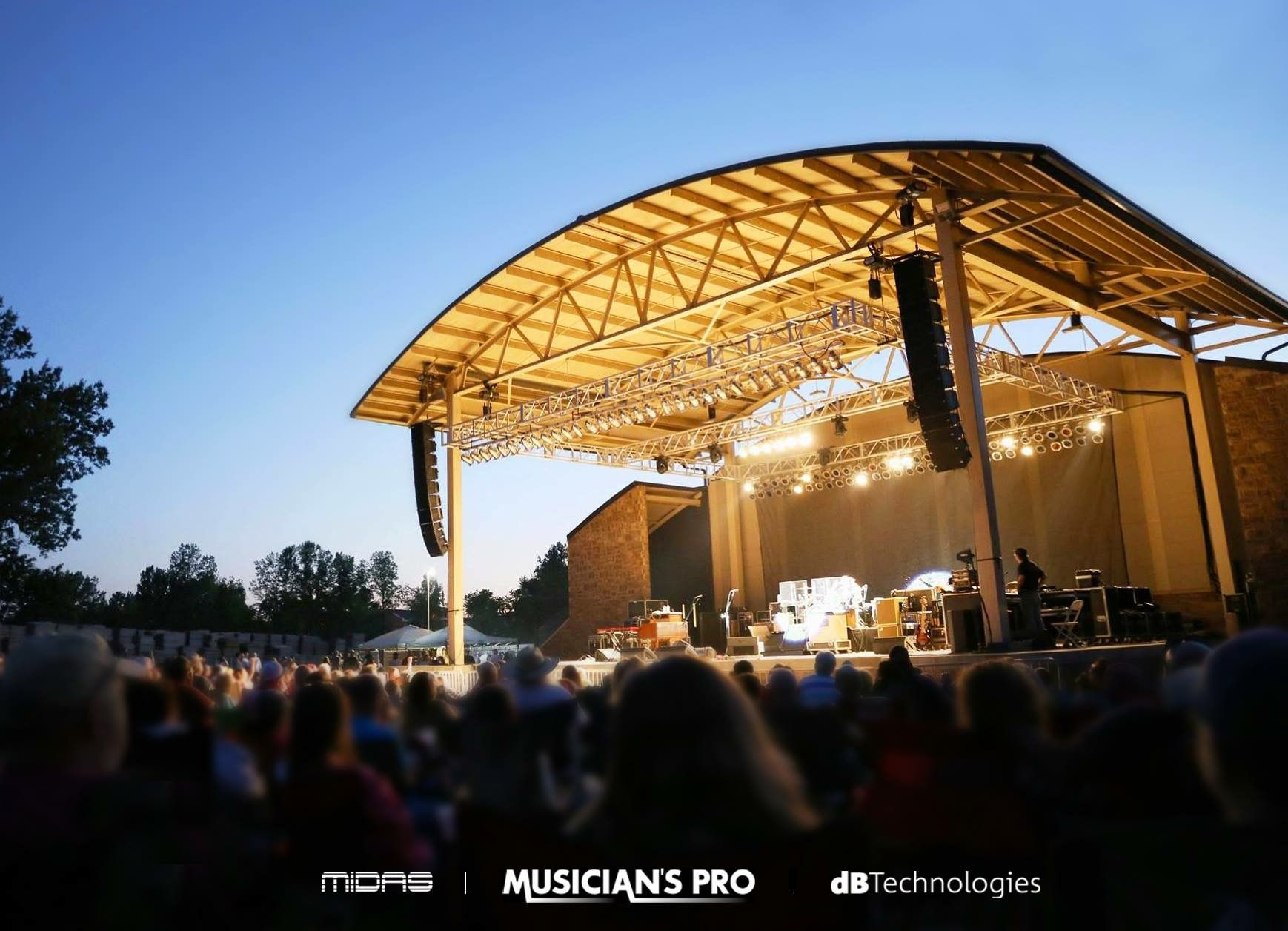 Outdoor Concert Festival Sound Stage Lights Video