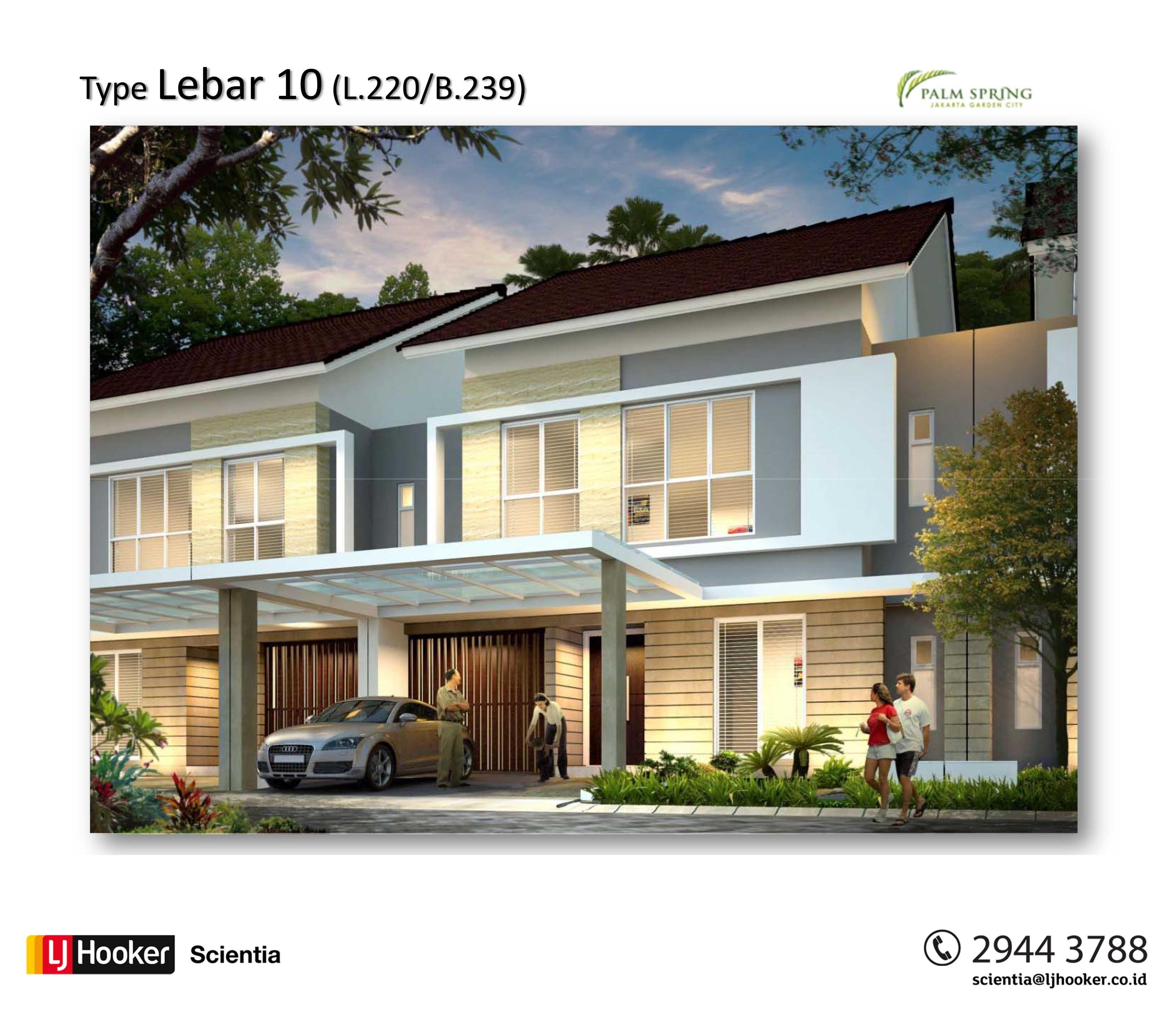Palm Spring Jakarta Garden City Rumah Minimalis Rumah Minimalis