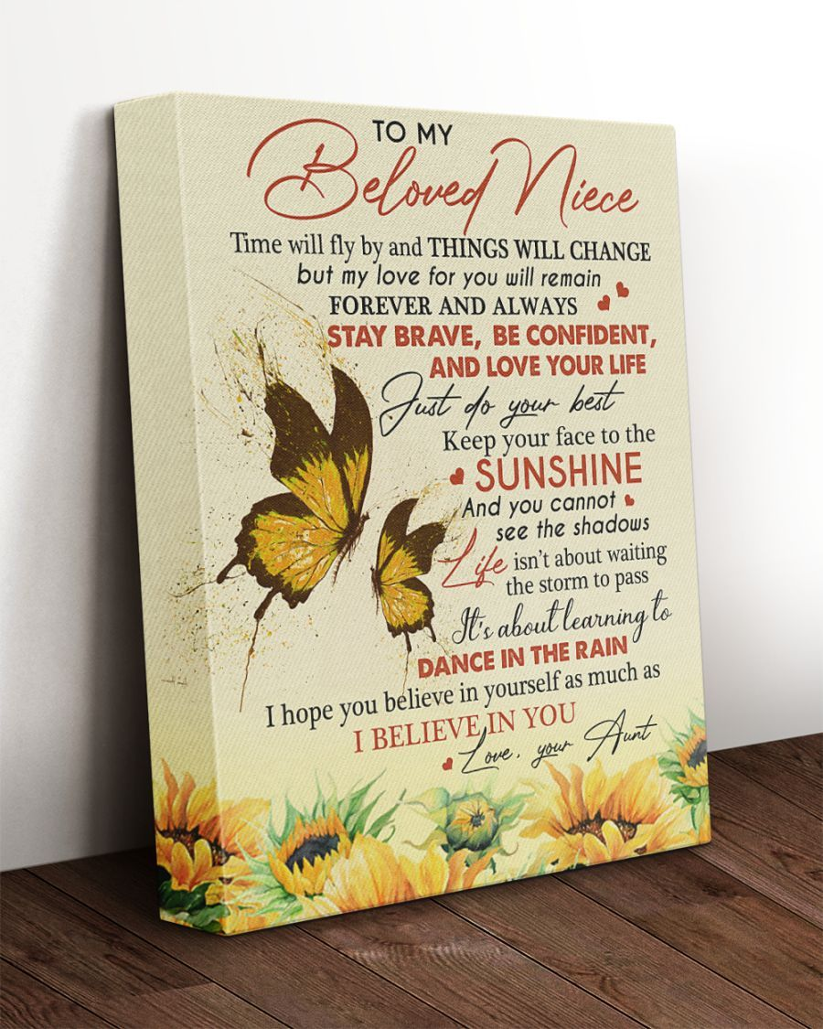 Gallery Wrapped Canvas Prints Forever Love Gifts Niece Quotes Niece Quotes From Aunt Niece Gifts