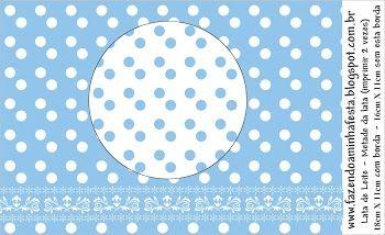 Imprimibles de lunares blancos y celeste 5.