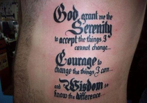 93043c2a9 Serenity Prayer Cross Tattoo Serenity Prayer Cross Tattoo: Devoted Serenity  Prayer Tattoos