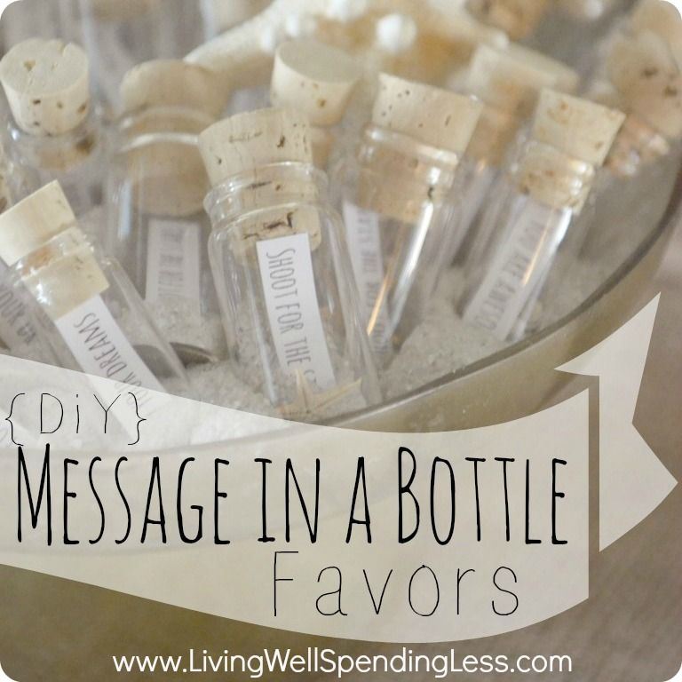 DIY Message in a Bottle Party Favors | Party favour ideas, Themed ...