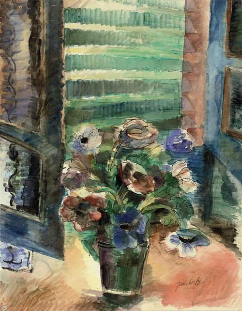 poboh: Jean Dufy (French, 1888-1964) ~ Bouquet of Anemones