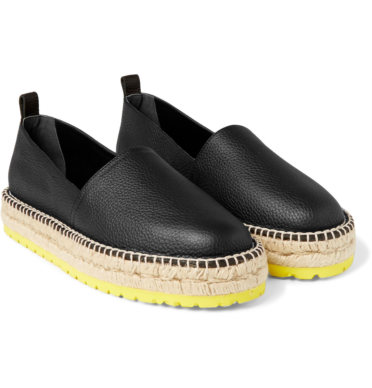 993e24321cd Balenciaga - Full-Grain Leather Espadrilles | My Style | Leather ...