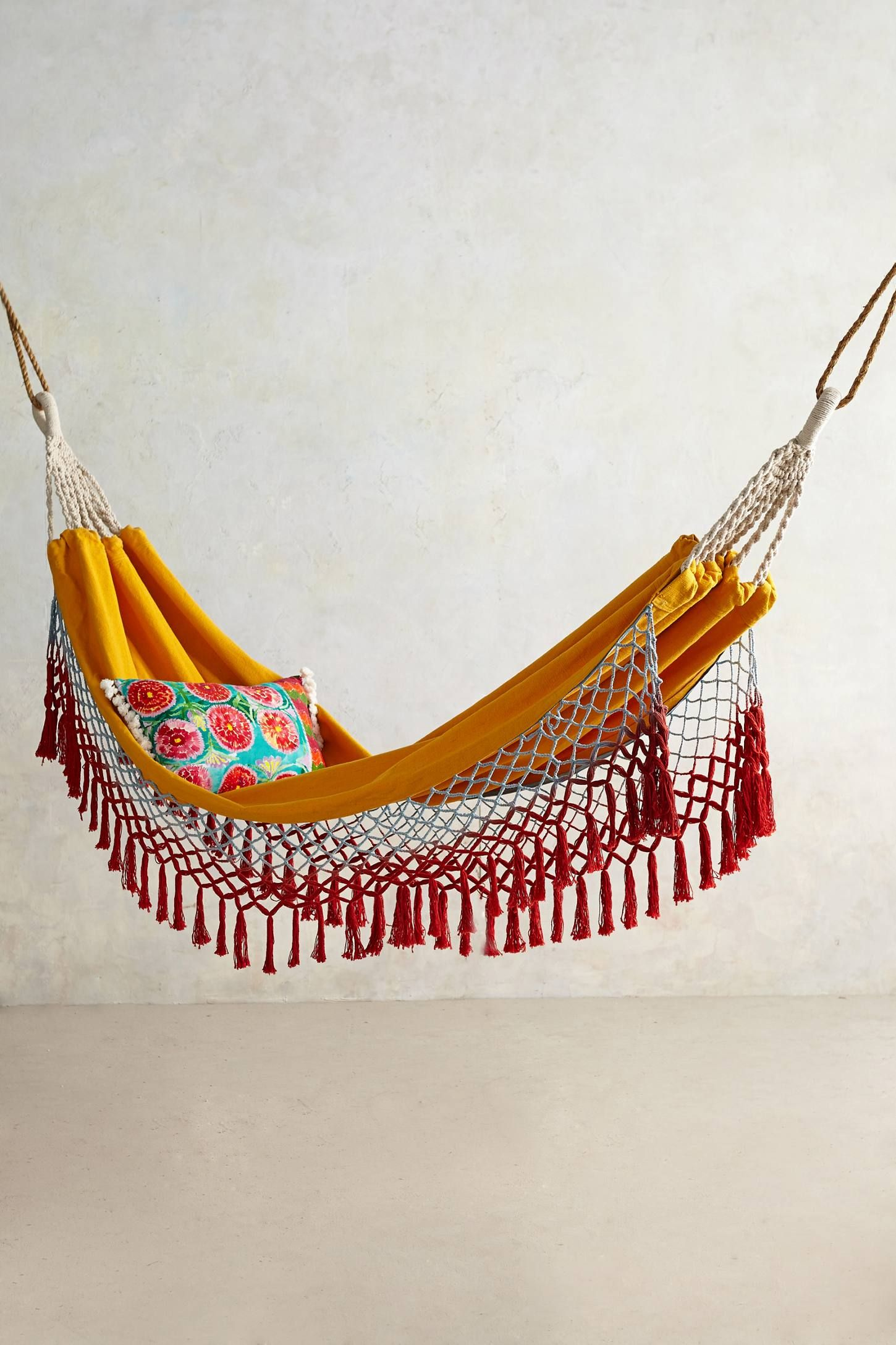 too pretty to be outdoors!! Canyon Fringe Hammock - anthropologie ...