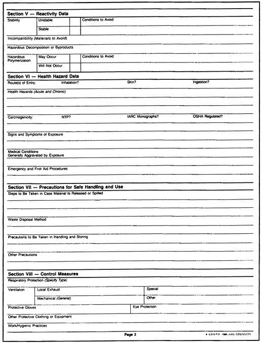 Hazard assessment template emergency evaluation form for Material safety data sheet template free