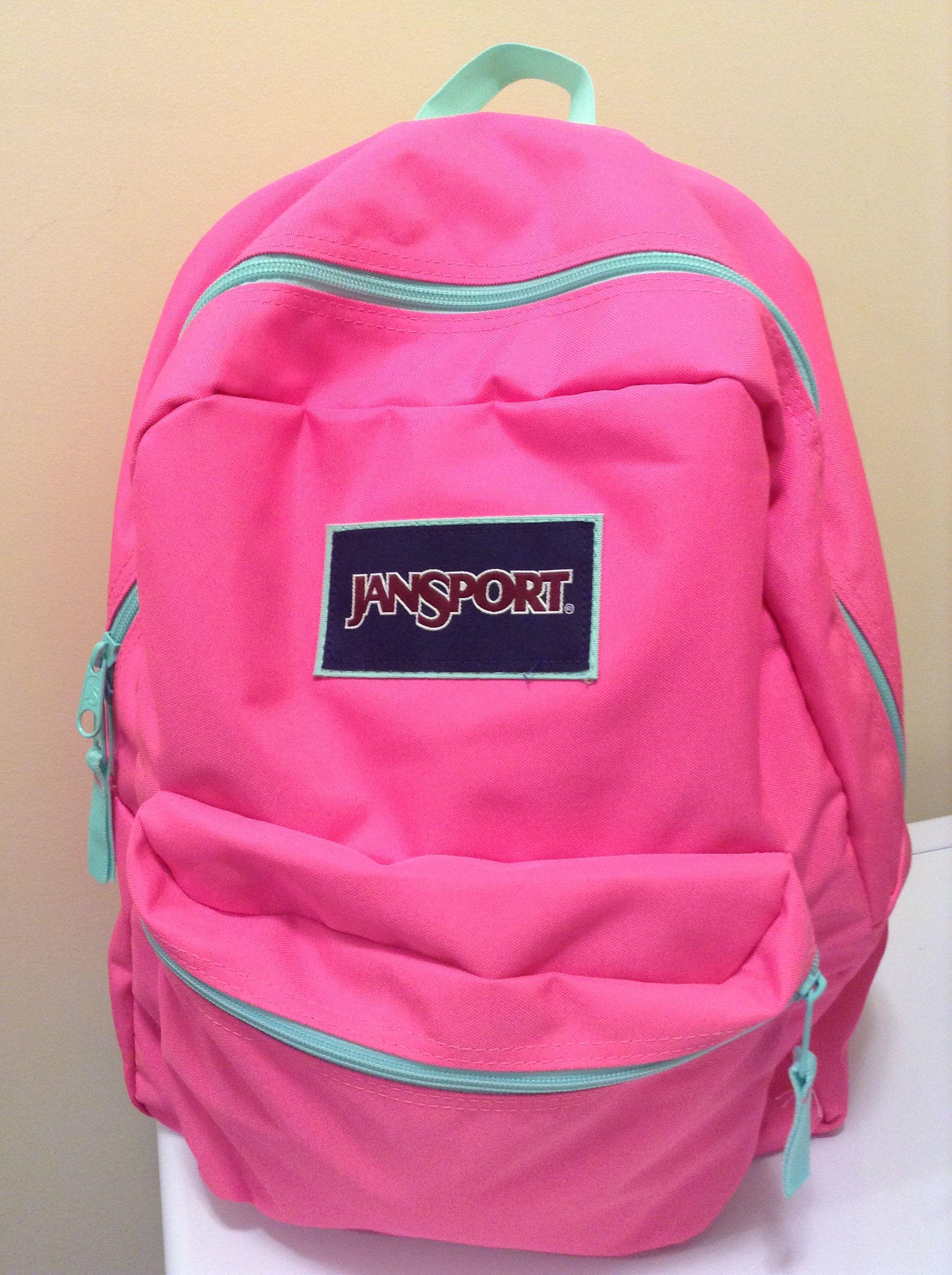 New hot pink backpack.  jansport  2e9ea7b198c59