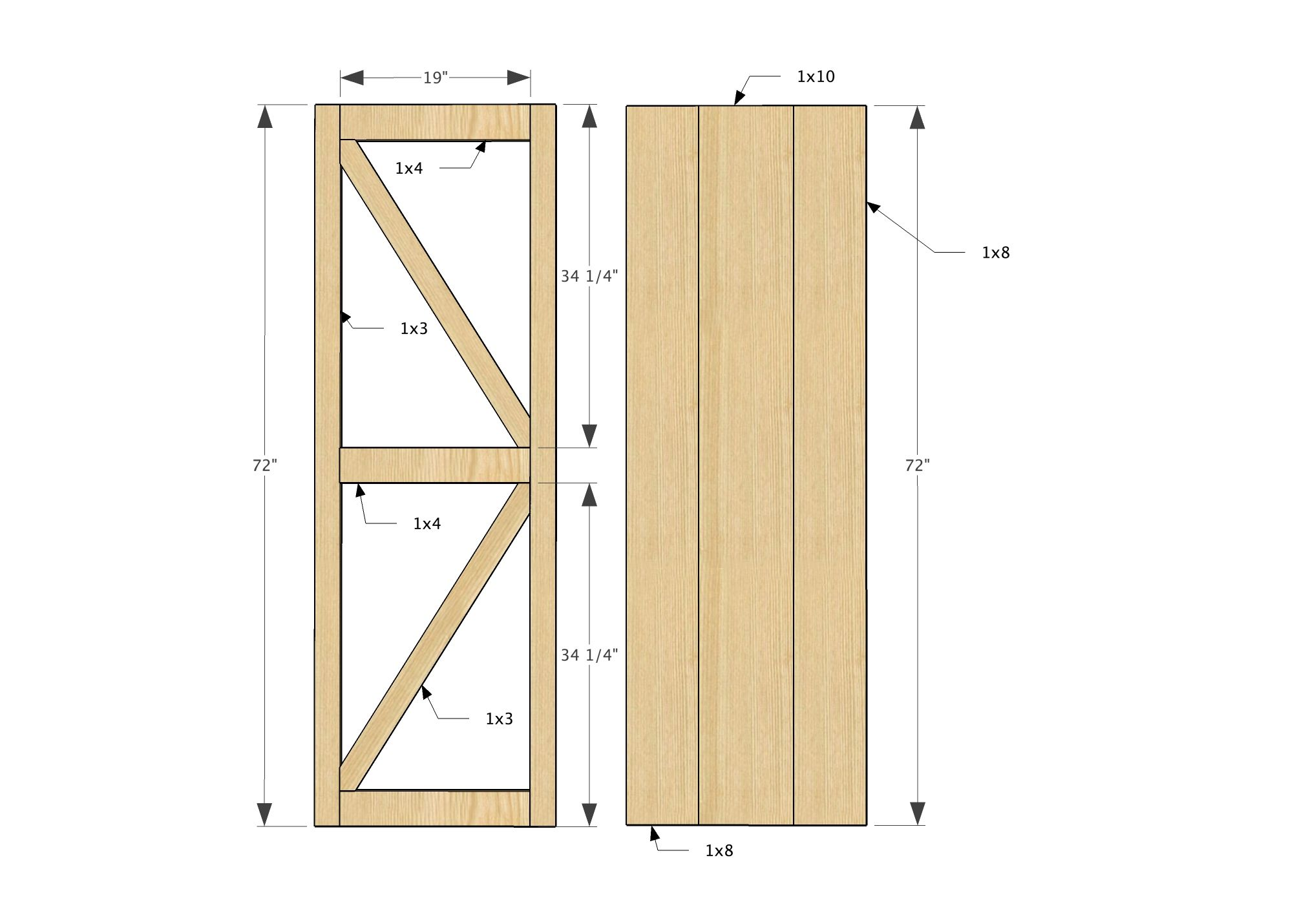 Ana White Build A Sliding Barn Door Media Wall Suite Free And