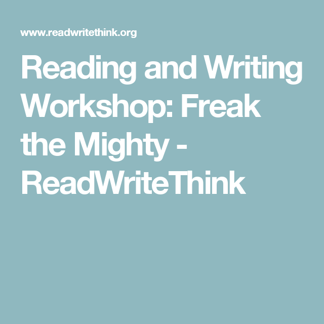 Freak The Mighty Journal Quickwrite Writing Prompts By Rodman