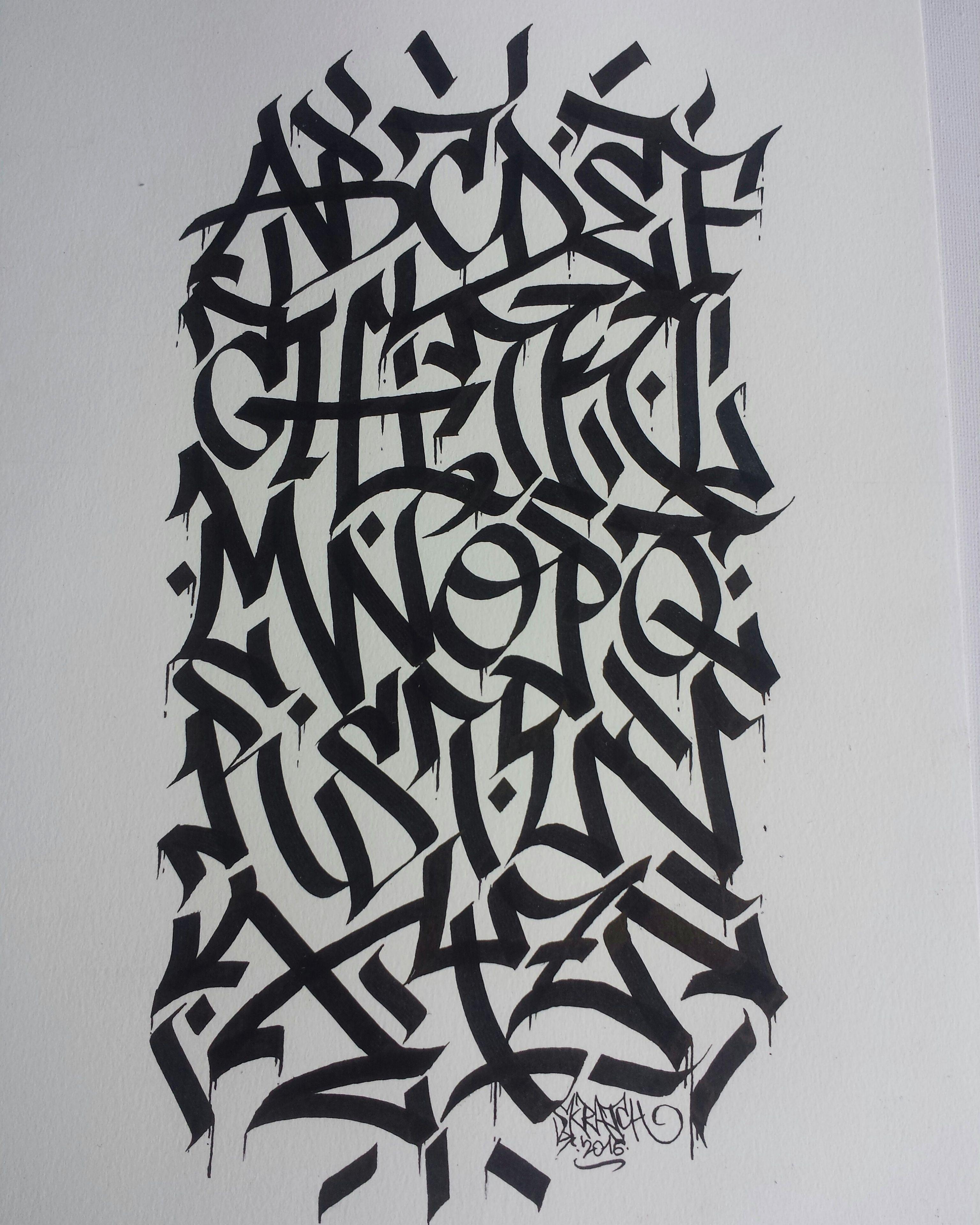 Alphabet calligraffiti by skratch 2016 calligraphy calligraffiti en 2019 lettrage graffiti - Lettre graffiti modele ...