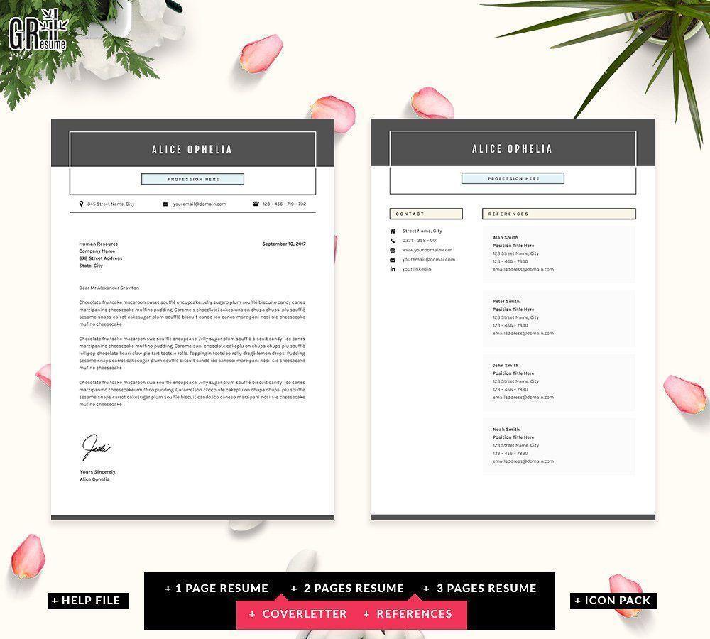 5 Pages Resume CV Template originalcolorscreate